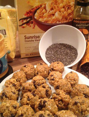 Crunchy Chocolate Chia Peanut Butter Balls
