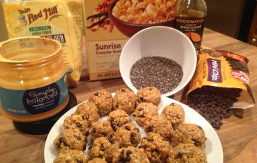 Crunchy Chocolate Chia Peanut Butter Balls