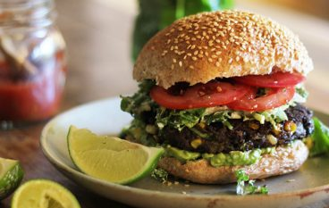 Baja Black Bean Burgers and Creamy Lime Coleslaw