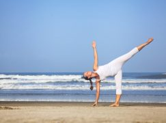 Half Moon Pose Calms and Balances