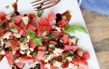 Tofu Feta + Feta Watermelon Salad