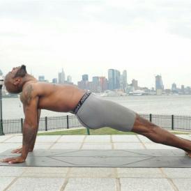NFL Veteran Safety, Mike Adams, Says Yoga Helps Him Keep Grindin'!
