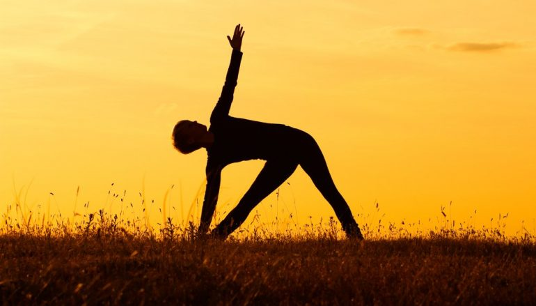 Try Triangle Pose!