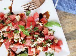 Tofu Feta + Watermelon Salad