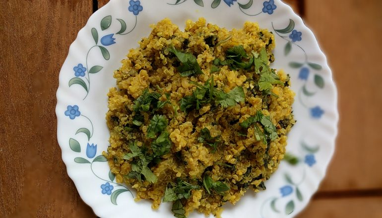 Spinach Lentil Quinoa Khichari