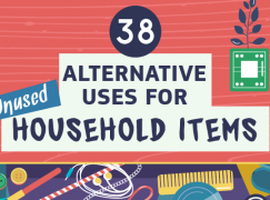 38 Alternative Uses for Unused Household Items (Infographic)
