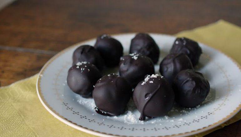 Dark Chocolate Covered Coconut Balls