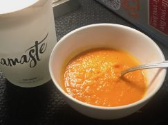 Spicy Roasted Sweet Potato and Red Pepper Soup